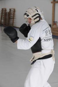 боксерская стойка в Ниппон кэмпо