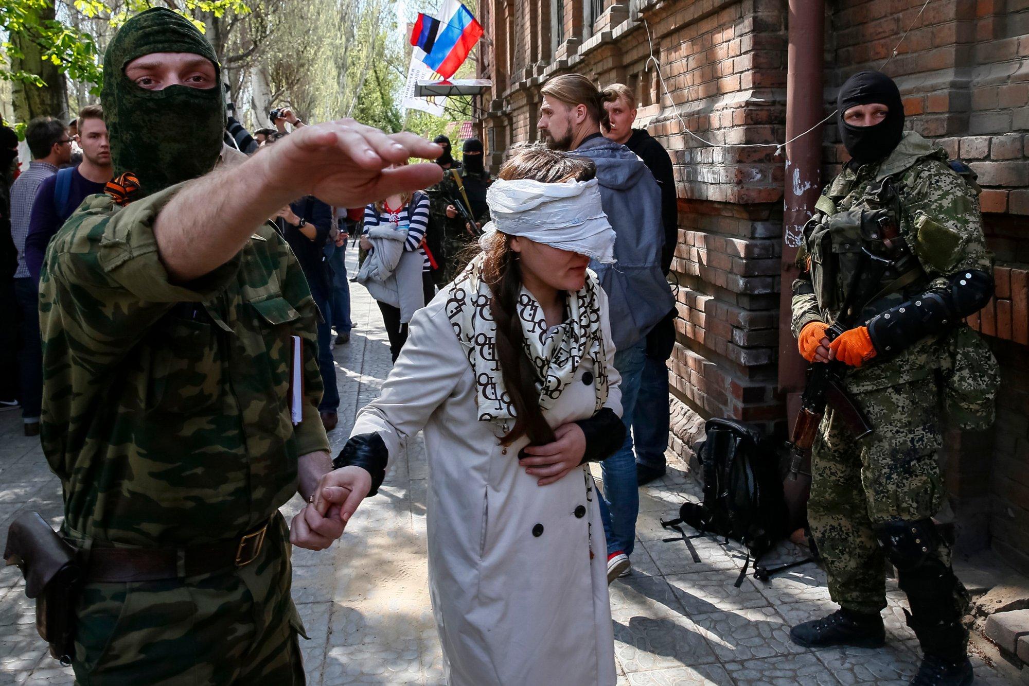 Заложники в Донецке