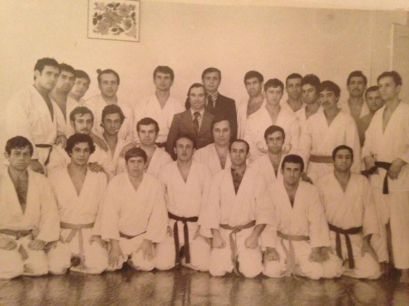 Первые сборы по рукопашному бою п.Буча 1980 г с представителями Москвы.