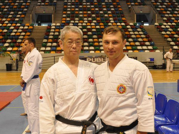 Представитель от японии Шихан Сайто и Вячеслав Журавлев