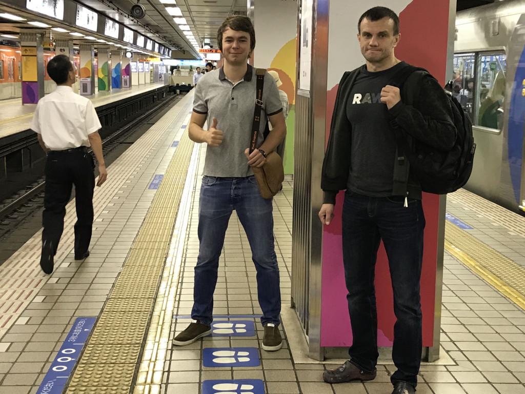 В метро Осака
