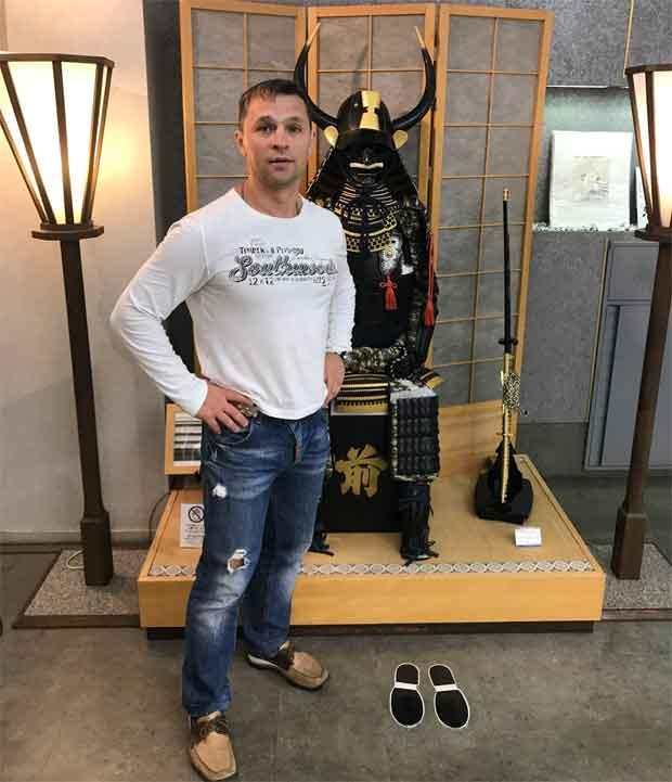 Вячеслав Журавлев в-магазине-будо-Киото