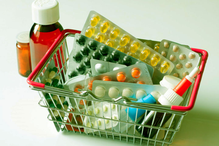корзина с лекарствами
