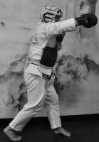 Дзедан-Йоко-Учи задней рукой